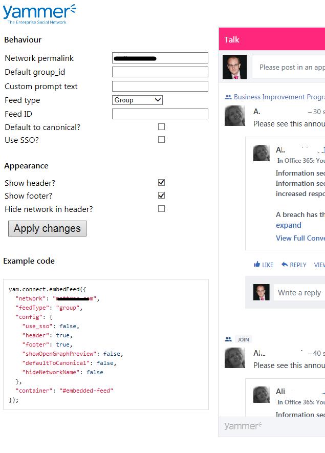 widget example