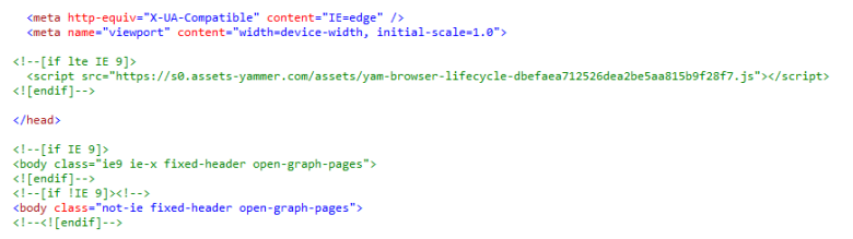 yammer ie9 example
