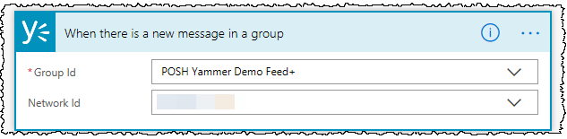 Flow trigger for new message in Yammer