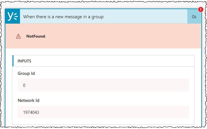 Using Flow with Yammer's All Company / All Network feed