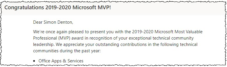 "Extract of the renewal email. It states that Microsoft ""appreciates your outstanding contributions"""